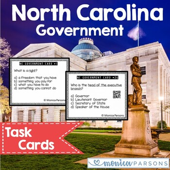 North Carolina Government Task Cards