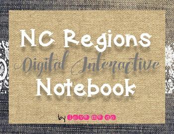 North Carolina Regions *DIGITAL* Interactive Notebook