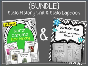 North Carolina State History Unit and Lapbook Interactive