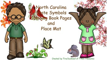 North Carolina State Symbols Coloring Book and Place Mat