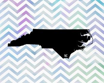 North Carolina Chevron State Map Class Decor, Classroom De