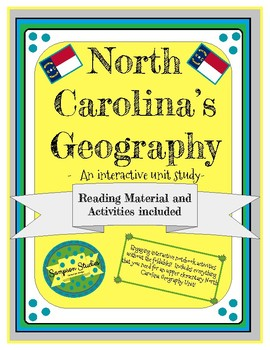 North Carolina's Geography Complete Interactive Unit