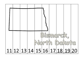 North Dakota State Capitol Number Sequence Puzzle 11-20.