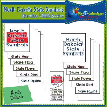 North Dakota State Symbols Interactive Foldable Booklets
