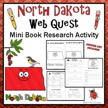 North Dakota Webquest Common Core Research Mini Book