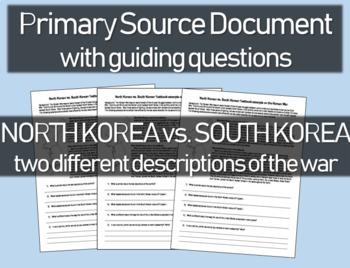 North Korea vs. South Korea textbook descriptions of the W