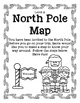 North Pole Map Black and White Level A