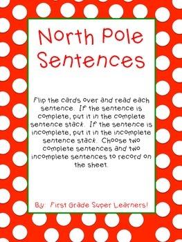 North Pole Sentences
