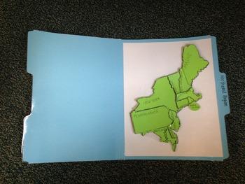 Northeast Region Study Folders-States and Capitals