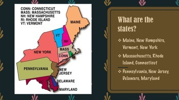 Northeast Region of United States Presentation FREEBIE