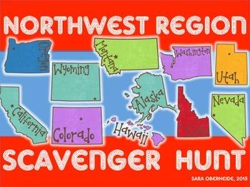 Northwest Region Scavenger Hunt - U.S. Regions