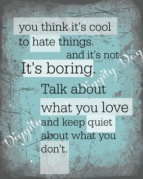 Not Cool to Hate - Digital Poster Format Bundle