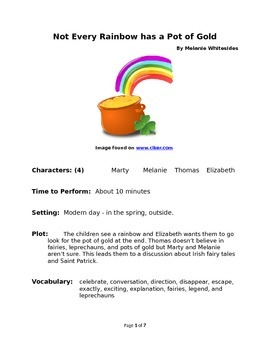 Not Every Rainbow has a Pot of Gold - Reader's Theater