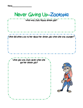 Never Giving Up- Zootopia