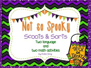 Not So Scary Halloween Scoot and Sort