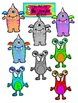 Not So Scary Monsters Clip Art for Personal or Commercial Use