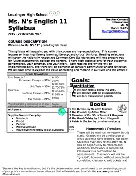 Not Your Average Syllabus with Syallbus Quiz