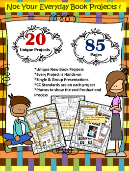 20 Creative WEEK-LONG Common Core Aligned Book Projects fo