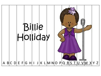 Notable African Americans Billie Holiday themed Alphabet S