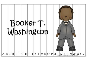 Notable African Americans Booker T Washington themed Alpha