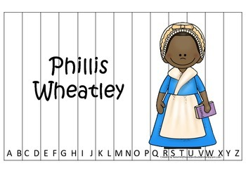 Notable African Americans Phillis Wheatley themed Alphabet