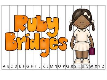 Notable African Americans Ruby Bridges themed Alphabet Seq