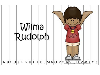 Notable African Americans Wilma Rudolph themed Alphabet Se