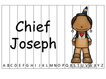 Notable Native Americans (Chief Joseph) Alphabet Sequence
