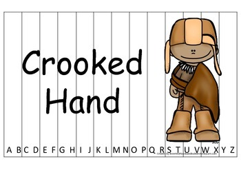 Notable Native Americans (Crooked Hand) Alphabet Sequence