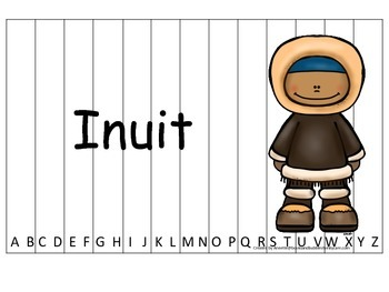 Notable Native Americans (Inuit) Alphabet Sequence Puzzle.