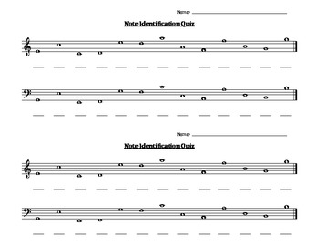Note Identification Worksheet