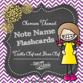 Note Name Flashcards - Chevron Theme