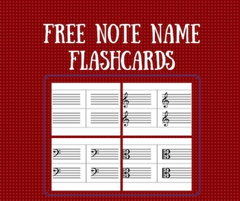 Note Name Flashcards- Blank