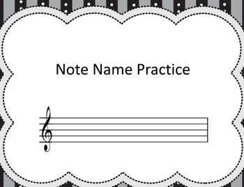 Note Name Practice Book Easy