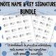 Note Name and Key Signature Identification BUNDLE
