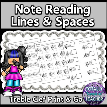 Treble Clef Note Reading Bundle - Music Assessment Treble