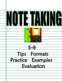 Notetaking How-To Program 6-9: Intro, Tips, Formats