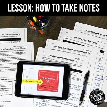 Note-Taking Skills Lessons: Teach Concurrently with Your N