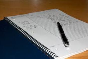 Note Taking Unit Plan