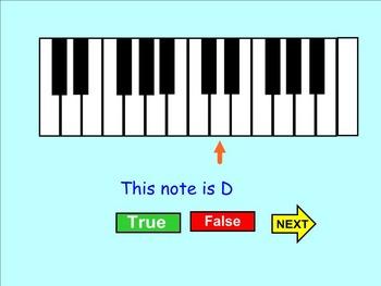 Note True or False Keyboard Game