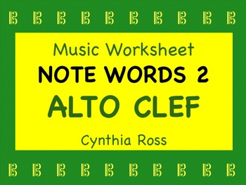 Note Words 2 for Alto Clef