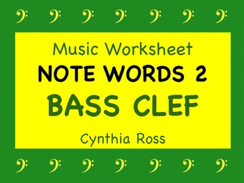 Note Words 2 for Bass Clef