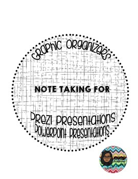 Note-taking Graphic Organizer for Prezi and PowerPoint Pre