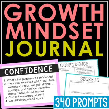 Creative Writing Notebook Journal Project - Growth Mindset
