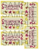 Notebook Labels - Yellow with Pink
