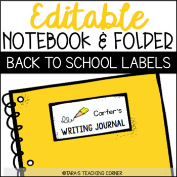 EDITABLE Notebook and Folder Labels