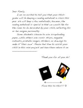Notebooking Parent Letter
