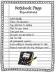 Notebooking Planning Sheets and Rubric