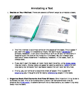 Notes: Annotating a Text