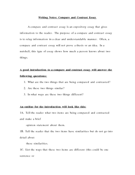 writing a compare and contrast essay lesson plan Plan your lesson in reading and english / language arts with helpful tips from teachers like you students will be able to write a compare and contrast essay.